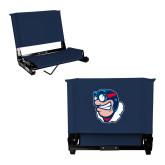 Stadium Chair Navy-Mascot Head