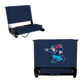 Stadium Chair Navy-Full Mascot