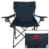 Deluxe Navy Captains Chair-Dayton Flyers