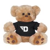 Plush Big Paw 8 1/2 inch Brown Bear w/Black Shirt-Flying D