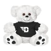 Plush Big Paw 8 1/2 inch White Bear w/Black Shirt-Flying D