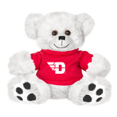 Plush Big Paw 8 1/2 inch White Bear w/Red Shirt-Flying D