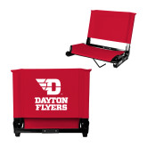 Stadium Chair Red-Dayton Flyers Stacked
