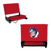 Stadium Chair Red-Mascot Head