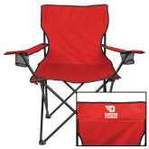 Deluxe Red Captains Chair-Dayton Flyers Stacked