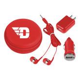 3 in 1 Red Audio Travel Kit-Flying D