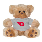 Plush Big Paw 8 1/2 inch Brown Bear w/Grey Shirt-Flying D