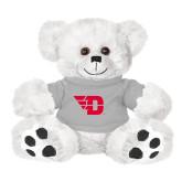 Plush Big Paw 8 1/2 inch White Bear w/Grey Shirt-Flying D