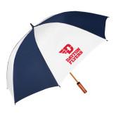 64 Inch Navy/White Umbrella-Dayton Flyers Stacked
