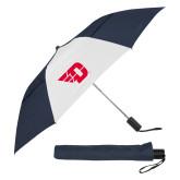 42 Inch Slim Stick Navy/White Vented Umbrella-Flying D