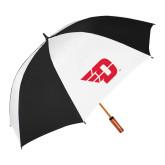 64 Inch Black/Whit Umbrella-Flying D