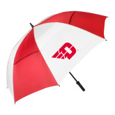 62 Inch Red/White Vented Umbrella-Flying D