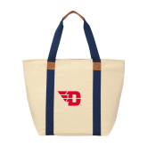 Natural/Navy Saratoga Tote-Flying D