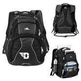 High Sierra Swerve Black Compu Backpack-Flying D