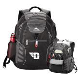High Sierra Big Wig Black Compu Backpack-Flying D