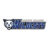 Large Decal-Daemen College Wildcats w/ Head, 12 in Wide