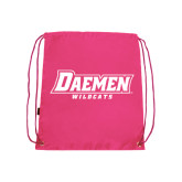 Pink Drawstring Backpack-Daemen Wildcats