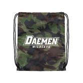 Camo Drawstring Backpack-Daemen Wildcats