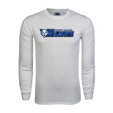 White Long Sleeve T Shirt-Daemen College Wildcats w/ Head