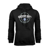 Black Fleece Hoodie-Daemen Basketball w/ Ball