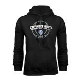 Black Fleece Hoodie-Daemen Basketball w/ Ball