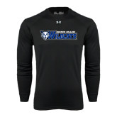 Under Armour Black Long Sleeve Tech Tee-Daemen College Wildcats w/ Head