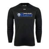 Under Armour Black Long Sleeve Tech Tee-Daemen College Wildcats w/ Head