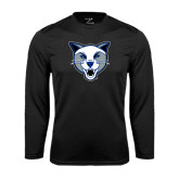 Syntrel Performance Black Longsleeve Shirt-Wildcat Head
