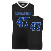 Replica Black Adult Basketball Jersey-#47