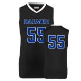 Replica Black Adult Basketball Jersey-#55