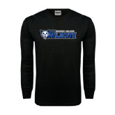 Black Long Sleeve TShirt-Daemen College Wildcats w/ Head