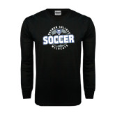 Black Long Sleeve TShirt-Soccer Circle