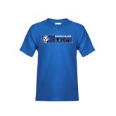Youth Royal T Shirt-Daemen College Wildcats w/ Head