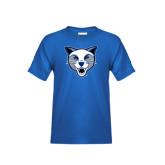 Youth Royal T Shirt-Wildcat Head