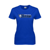 Ladies Royal T-Shirt-Daemen College Wildcats w/ Head