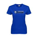 Ladies Royal T-Shirt-Daemen College Wildcats w/ Head