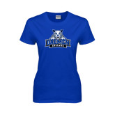 Ladies Royal T-Shirt-Official Logo Distressed