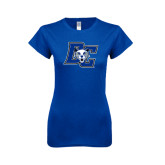 Next Level Ladies SoftStyle Junior Fitted Royal Tee-DC Wildcat