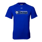 Under Armour Royal Tech Tee-Daemen College Wildcats w/ Head