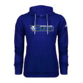 Adidas Climawarm Royal Team Issue Hoodie-Daemen College Wildcats w/ Head