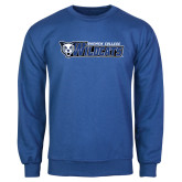 Royal Fleece Crew-Daemen College Wildcats w/ Head