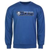 Royal Fleece Crew-Daemen College Wildcats w/ Head