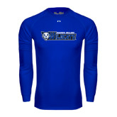 Under Armour Royal Long Sleeve Tech Tee-Daemen College Wildcats w/ Head