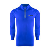 Under Armour Royal Tech 1/4 Zip Performance Shirt-Daemen College Wildcats w/ Head