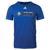 Adidas Royal Logo T Shirt-Daemen College Wildcats w/ Head