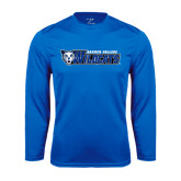 Performance Royal Longsleeve Shirt-Daemen College Wildcats w/ Head