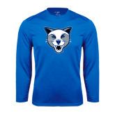 Syntrel Performance Royal Longsleeve Shirt-Wildcat Head