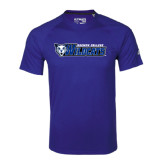 Adidas Climalite Royal Ultimate Performance Tee-Daemen College Wildcats w/ Head