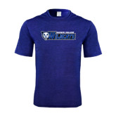 Performance Royal Heather Contender Tee-Daemen College Wildcats w/ Head