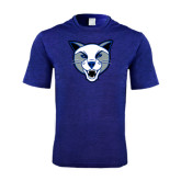 Performance Royal Heather Contender Tee-Wildcat Head